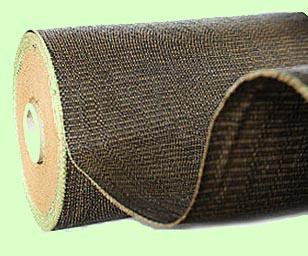 Tkaná PP textilie hnědá 210cm x 100m 100g/m2