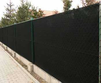 90% Stínicí tkanina na plot š. 160 cm metráž Antracit
