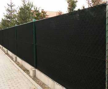 90% Stínicí tkanina na plot Antracit š. 125 cm metráž