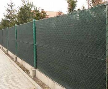 90% Stínicí tkanina na plot š. 200 cm metráž Antracit